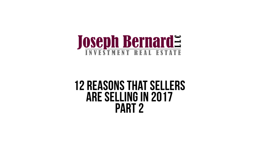 Video: 12 Reasons Why Sellers Are Selling in 2017/18 Part II