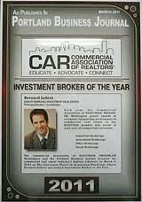 The 2010 Commercial Association of Realtors Broker of the Year Bernard Gehret is Presenting the Apartment Investor Series Seminar