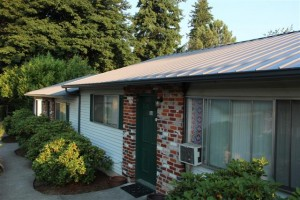 The Metal Roofing System Has a Clean, Crisp Look